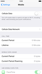 Apple iPhone 6 iOS 8 - Internet and data roaming - How to check if data-connectivity is enabled - Step 4