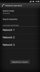 Sony Xperia S - Network - Manual network selection - Step 11