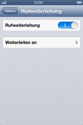 Apple iPhone 4S - Anrufe - Rufumleitungen setzen und löschen - Schritt 7