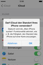 Apple iPhone 4S iOS 7 - Apps - Konfigurieren des Apple iCloud-Dienstes - Schritt 7