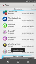 Sony Xperia Z3 Compact - Applications - How to uninstall an app - Step 8