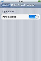 Apple iPhone 4 S - Réseau - Sélection manuelle du réseau - Étape 4