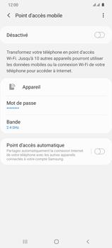Samsung Galaxy S20 Ultra - Internet et connexion - Partager votre connexion en Wi-Fi - Étape 11
