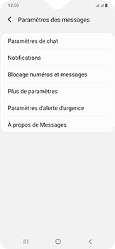 Samsung Galaxy A20e - SMS - configuration manuelle - Étape 7