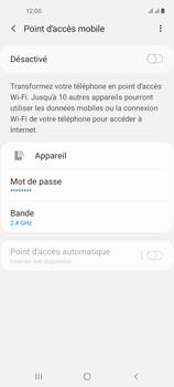 Samsung Galaxy A21s - Internet et connexion - Partager votre connexion en Wi-Fi - Étape 11