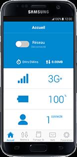 Alcatel MiFi Y900 - Prise en main - Connection du modem à votre smartphone ou tablette - Étape 12