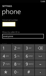 Nokia Lumia 820 LTE - Voicemail - Manual configuration - Step 8