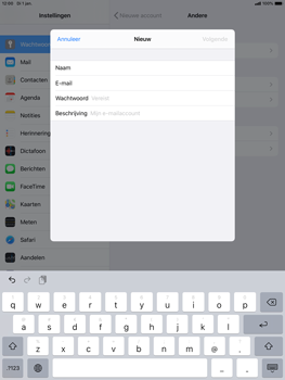 Apple ipad-air-10-5-inch-2019-model-a2123-ipados-13 - E-mail - Account instellen (POP3 met SMTP-verificatie) - Stap 8