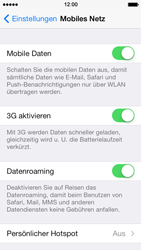 Apple iPhone 5s - Ausland - Im Ausland surfen – Datenroaming - 7 / 9