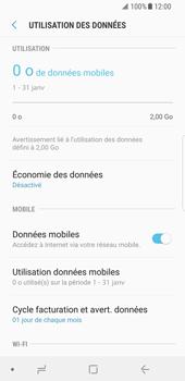 Samsung Galaxy S8 - Android Oreo - Internet et roaming de données - Comment vérifier que la connexion des données est activée - Étape 7