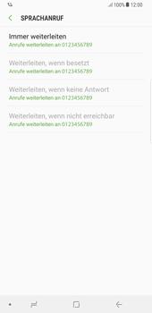 Samsung Galaxy S8 Plus - Anrufe - Rufumleitungen setzen und löschen - 11 / 12