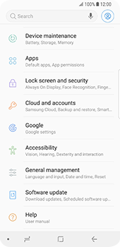 Samsung Galaxy S9 - Mobile phone - Resetting to factory settings - Step 4
