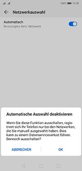Huawei P20 - Android Pie - Netzwerk - Manuelle Netzwerkwahl - Schritt 7