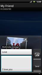 Sony Xperia Arc S - MMS - Sending pictures - Step 15