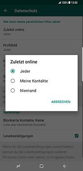 Samsung Galaxy S8 Plus - Datenschutz und Sicherheit - WhatsApp schützen und Datenschutz verwalten - 9 / 18