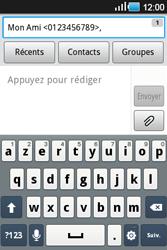 Samsung Galaxy Ace - Contact, Appels, SMS/MMS - Envoyer un SMS - Étape 8