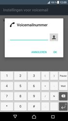 Sony Xperia XZ (F8331) - voicemail - handmatig instellen - stap 8