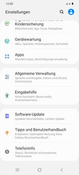 Samsung Galaxy S20 5G - Gerät - Zurücksetzen auf die Werkseinstellungen - Schritt 4