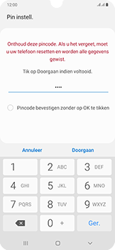 Samsung Galaxy A50 - Beveiliging - stel in of wijzig pincode voor je toestel - Stap 8