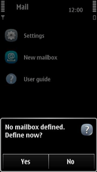 Nokia 500 - Email - Manual configuration POP3 with SMTP verification - Step 5