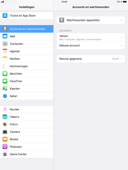 Apple iPad mini 4 iOS 11 - E-mail - Handmatig instellen (yahoo) - Stap 9