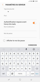 Samsung Galaxy S8 Plus - Android Oreo - E-mail - Configuration manuelle - Étape 14