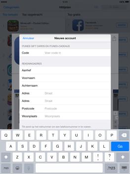 Apple iPad 2 iOS 8 - Applicaties - Account aanmaken - Stap 21