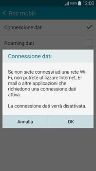 Samsung Galaxy Note 4 - Internet e roaming dati - Come verificare se la connessione dati è abilitata - Fase 7