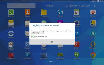 Samsung T535 Galaxy Tab 4 10.1 - Operazioni iniziali - Installazione di widget e applicazioni nella schermata iniziale - Fase 5