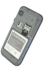 Samsung I9001 Galaxy S Plus - SIM-Karte - Einlegen - Schritt 5