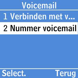 Samsung GT-E1200i - Voicemail - Handmatig instellen - Stap 6