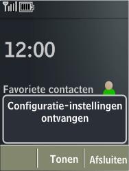 Nokia X3-02 - MMS - Automatisch instellen - Stap 3
