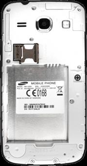 Samsung G3500 Galaxy Core Plus - SIM-Karte - Einlegen - Schritt 7