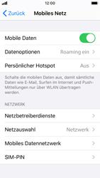 Apple iPhone SE - iOS 13 - Ausland - Auslandskosten vermeiden - Schritt 6