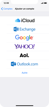 Apple iPhone X - iOS 12 - E-mail - Configuration manuelle (outlook) - Étape 5