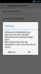Huawei Ascend G526 - Netzwerk - Manuelle Netzwerkwahl - Schritt 6