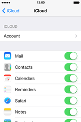 Apple iPhone 4S iOS 7 - Applications - configuring the Apple iCloud Service - Step 8