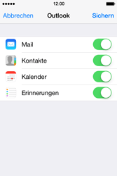 Apple iPhone 4S iOS 7 - E-Mail - 032c. Email wizard - Outlook - Schritt 9