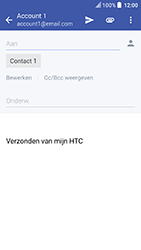 HTC U Play - E-mail - Bericht met attachment versturen - Stap 8