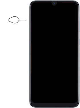 Samsung Galaxy A50 - Premiers pas - Insérer la carte SIM - Étape 2