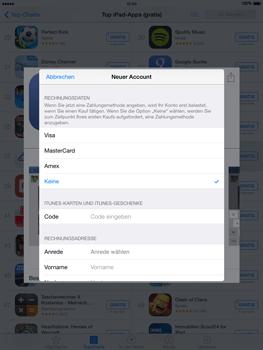 Apple iPad Air iOS 8 - Apps - Einrichten des App Stores - Schritt 19