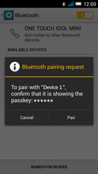 Alcatel One Touch Idol Mini - Bluetooth - Connecting devices - Step 8