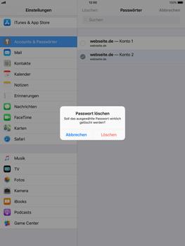 Apple iPad mini 2 - iOS 11 - Anmeldedaten hinzufügen/entfernen - 12 / 13