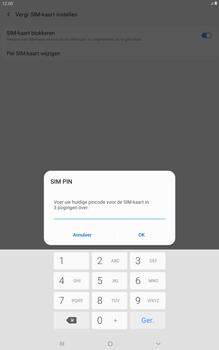 Samsung galaxy-tab-a-10-1-lte-2019-sm-t515 - Beveiliging en ouderlijk toezicht - Hoe wijzig ik mijn SIM PIN-code - Stap 8
