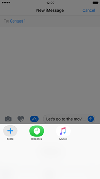 Apple Apple iPhone 6s Plus iOS 10 - iOS features - Send iMessage - Step 17