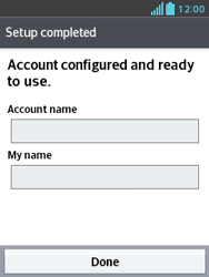 LG E430 Optimus L3 II - Email - Manual configuration POP3 with SMTP verification - Step 22