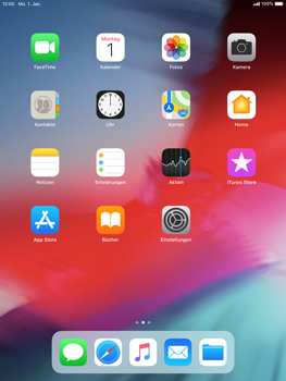 Apple iPad Air - iOS 12 - Internet - Manuelle Konfiguration - Schritt 1