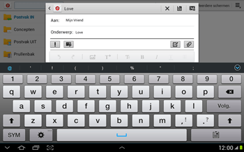 Samsung N8000 Galaxy Note 10-1 - E-mail - e-mail versturen - Stap 8