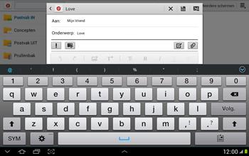 Samsung N8000 Galaxy Note 10-1 - E-mail - hoe te versturen - Stap 9