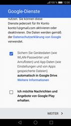 Huawei P9 Lite - Apps - Konto anlegen und einrichten - 16 / 21